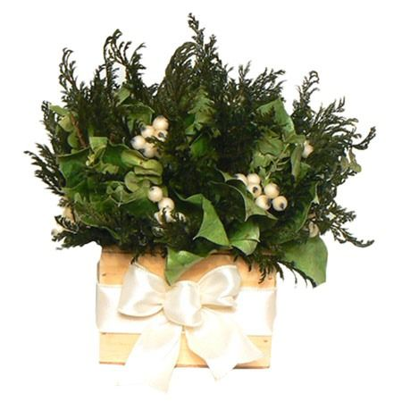 Faux Holiday Tabletop Greenery.