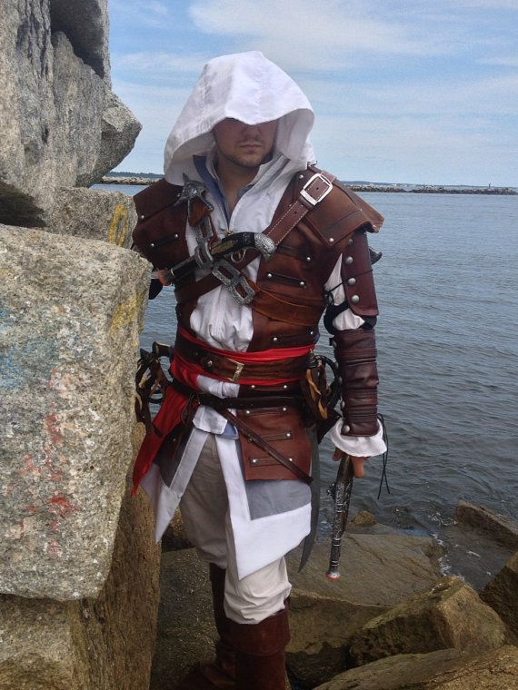 New Assassins Creed 4 Black Flag Edward Kenway Cosplay Costume On