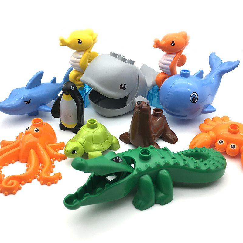 Big Size Bloki Diy Akcesoria Dzieci Zabawki Kompatybilny Z Ocean