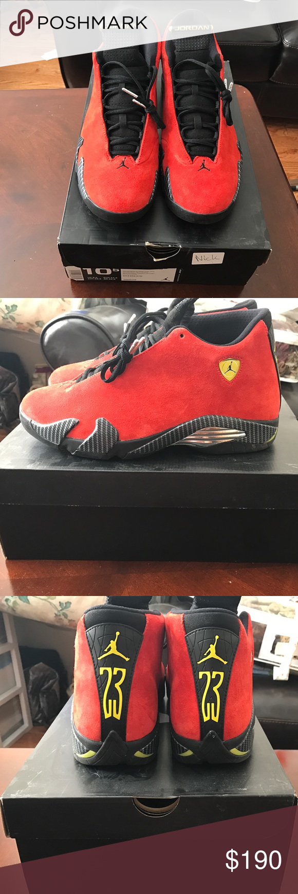 Air Jordan 14 Ferrari Jordans Jordans For Men Air Jordans