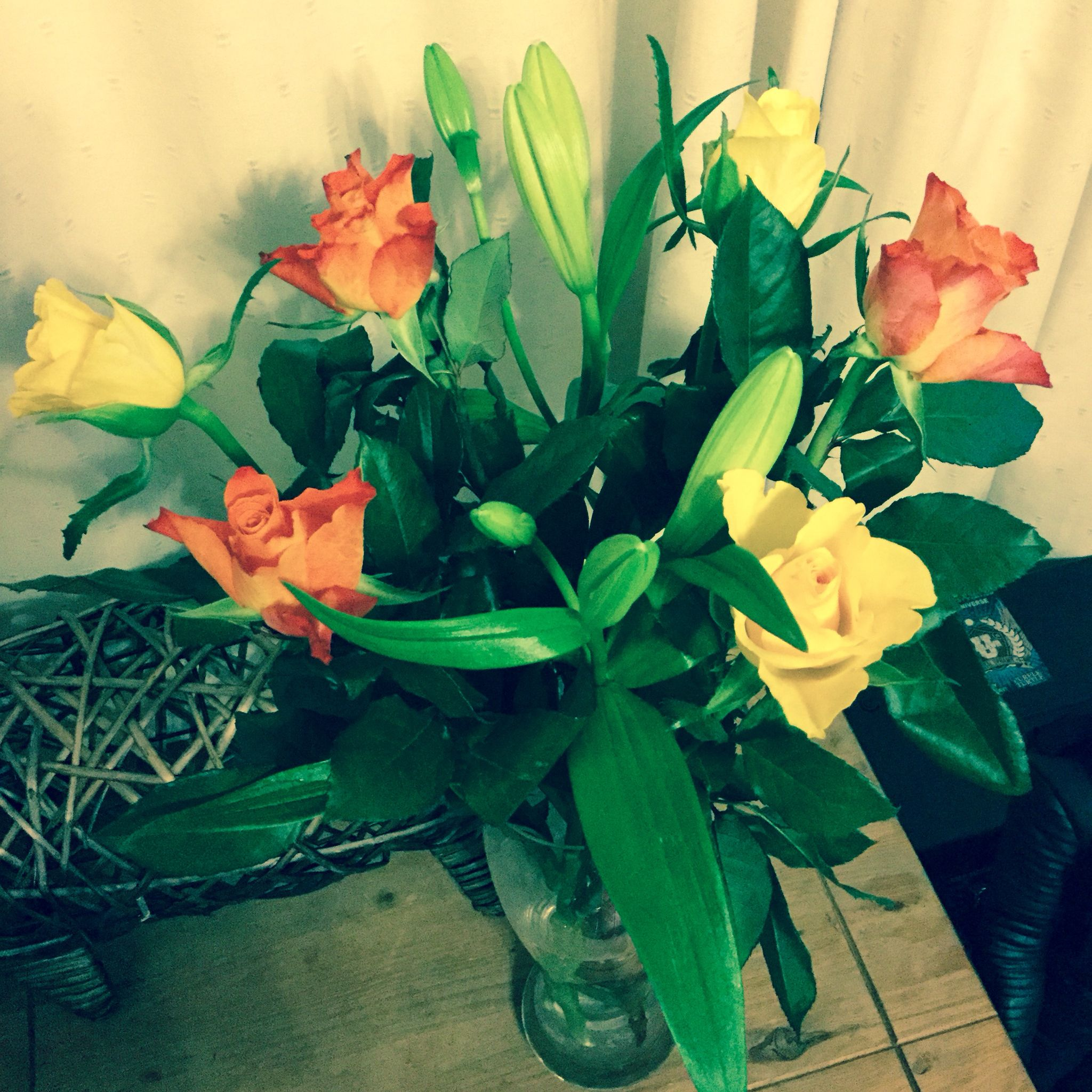 Fresh flowers bouquet courtesy of Tesco, completely free after ...