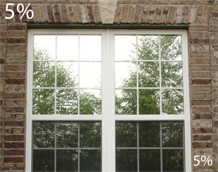 One Way Mirror Film With Nighttime Vision 5 Window Film Privacy