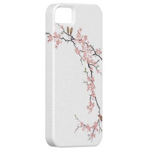 Elegant Cherry Blossom white vintage iphone5 case