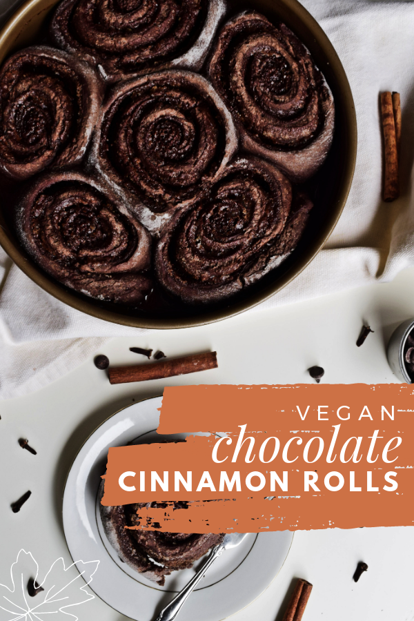 Vegan Chocolate Cinnamon Rolls In need of the perfect vegan dessert? Try these quick & easy Vegan Chocolate Cinnamon Rolls. Imagine warm homemade chocolaty dough swirled with cinnamon-sugar fresh out the oven. Get the simple recipe @  Dairy Free. Soy Free.
