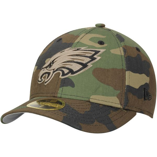 Philadelphia Eagles New Era Woodland Camo Low Profile 59FIFTY Fitted Hat 1 c981b1315774