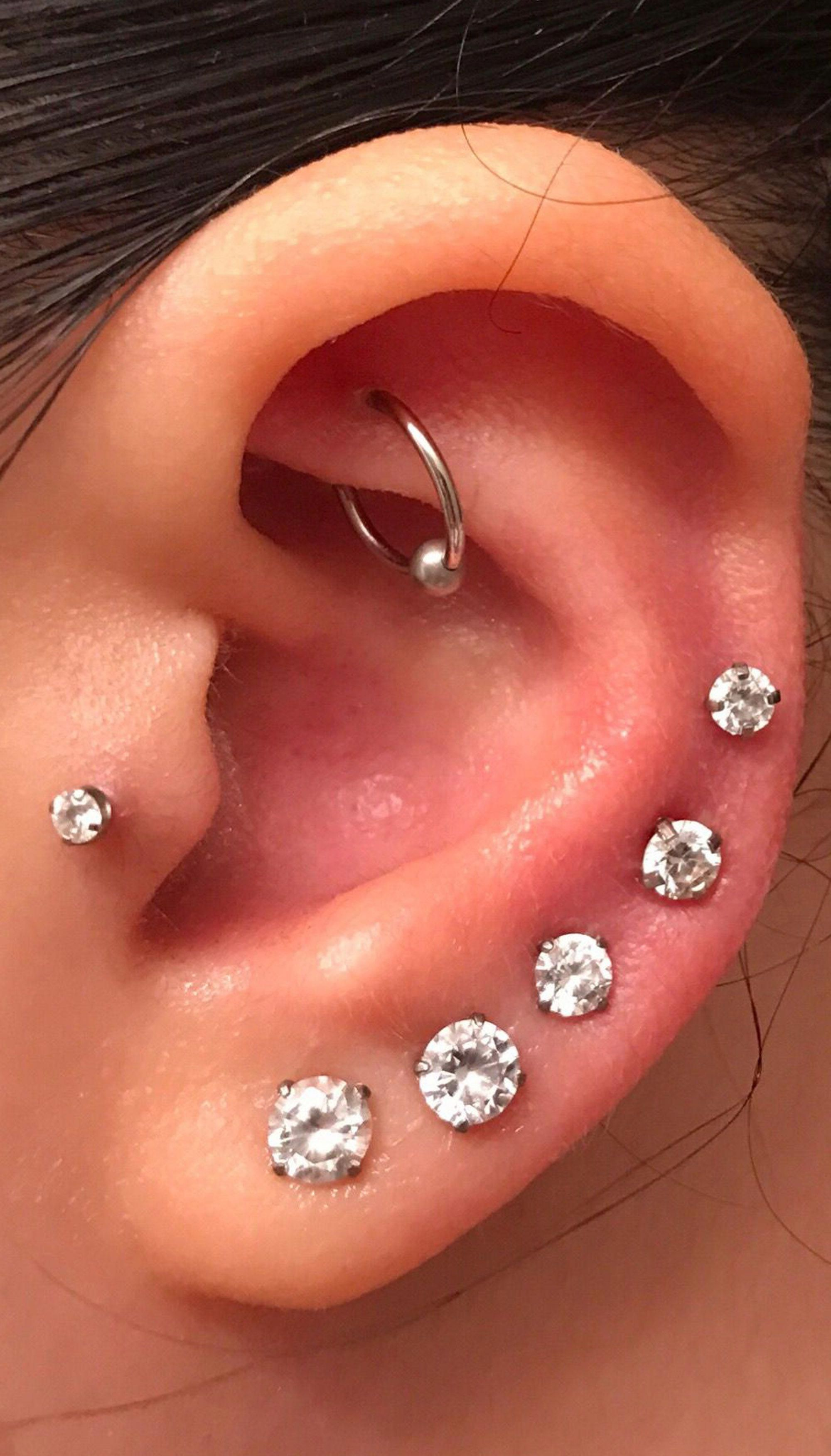 Nose piercing cover up  cute all the way around multiple ear piercing ideas for women