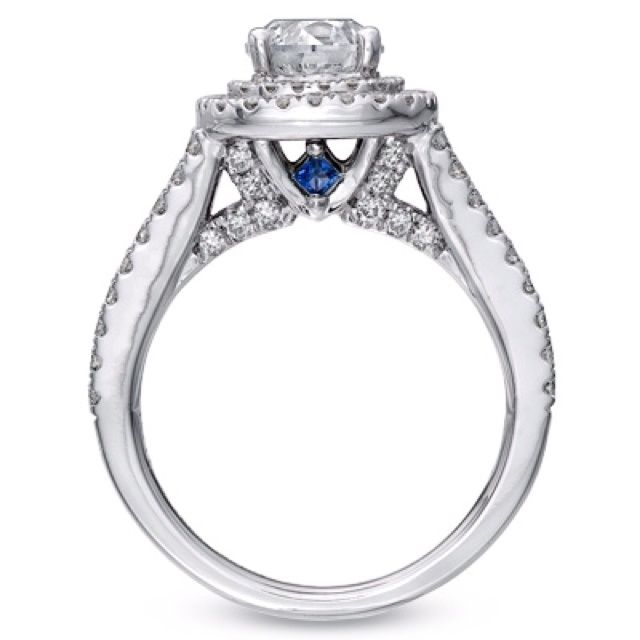 Vera Wang Engagement Ring Love Blue Sapphires Jewelry