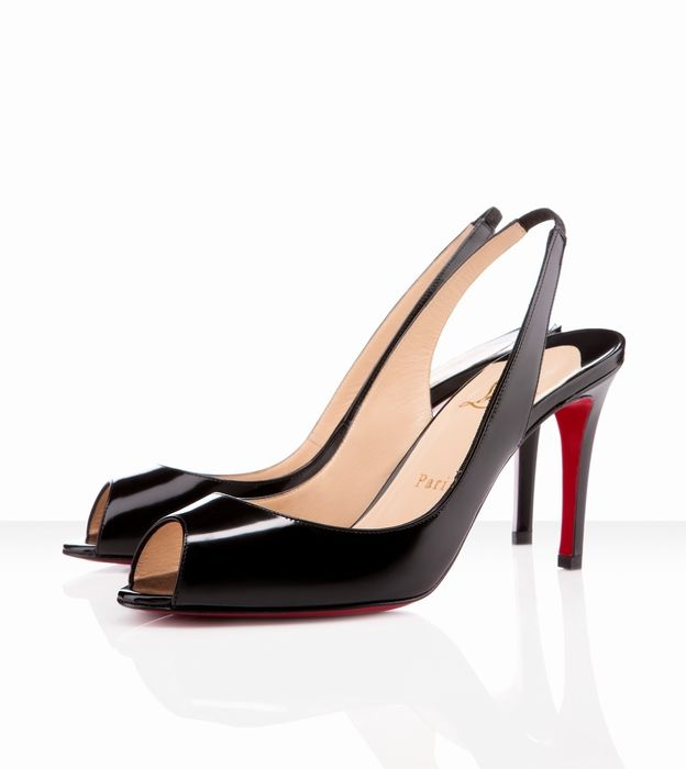 competitive price c3475 b5d7d Christian Louboutin You You Sling 85mm Black -$146 | Things ...