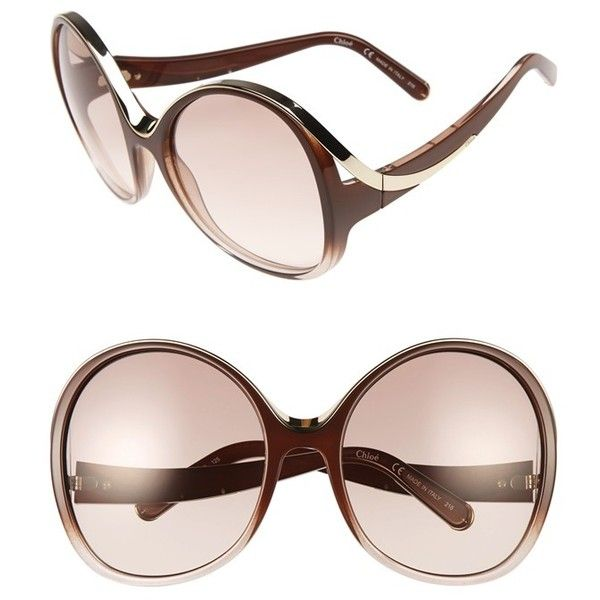 2f1377a3bb0 Compare and shop from fashion stores for CHLOÉ Mandy Oversized Oval  Sunglasses.