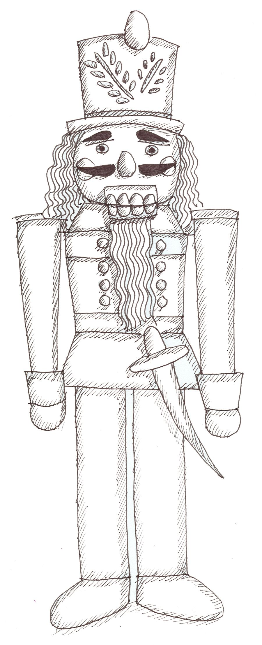 nutcracker coloring sheets the nutcracker color it in and put it on your