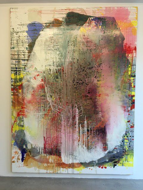 "Jackie Saccoccio,  ""Profile (Candy)"" Not my palette, but a tour de force, I'm thinking."
