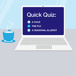 QUICK QUIZ: CAN YOU TELL THE DIFFERENCE BETWEEN ALLERGY, COLD AND FLU SYMPTOMS?