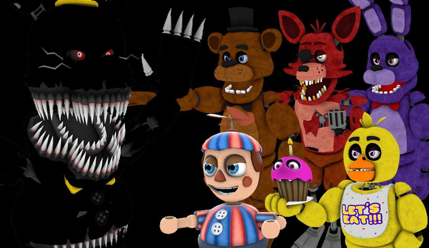 SFM FNAF] EthGoesBOOM Halloween Special!!! || FNAF 4 Night 8 ...