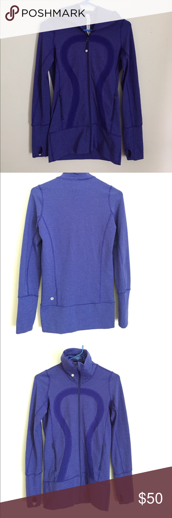 Lululemon purple striped zip-up sweater | Lululemon, Lululemon ...