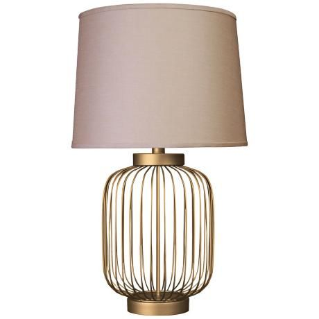 Idalia Dull Gold Small Wire Cage Accent Table Lamp 7p160 Lamps Plus Lamp Metal Table Lamps Table Lamp