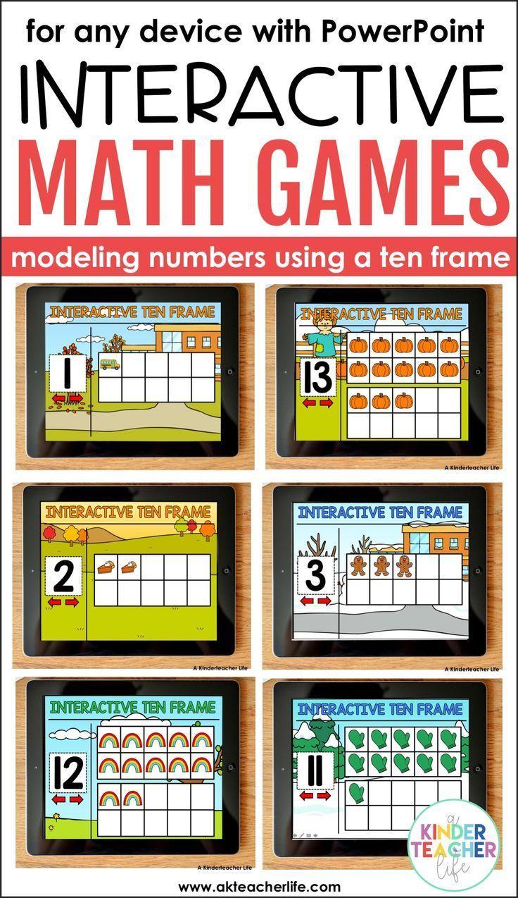 Interactive Ten Frame Math Games The Bundle | Ten frames, Math and ...