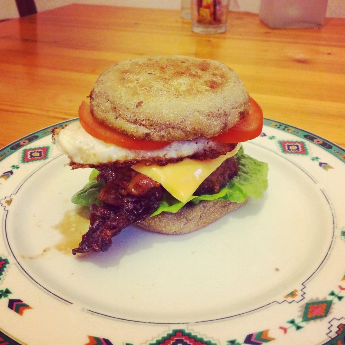 [Homemade] Quarter pounder with bacon and egg http://ift.tt/2krOFui #TimBeta