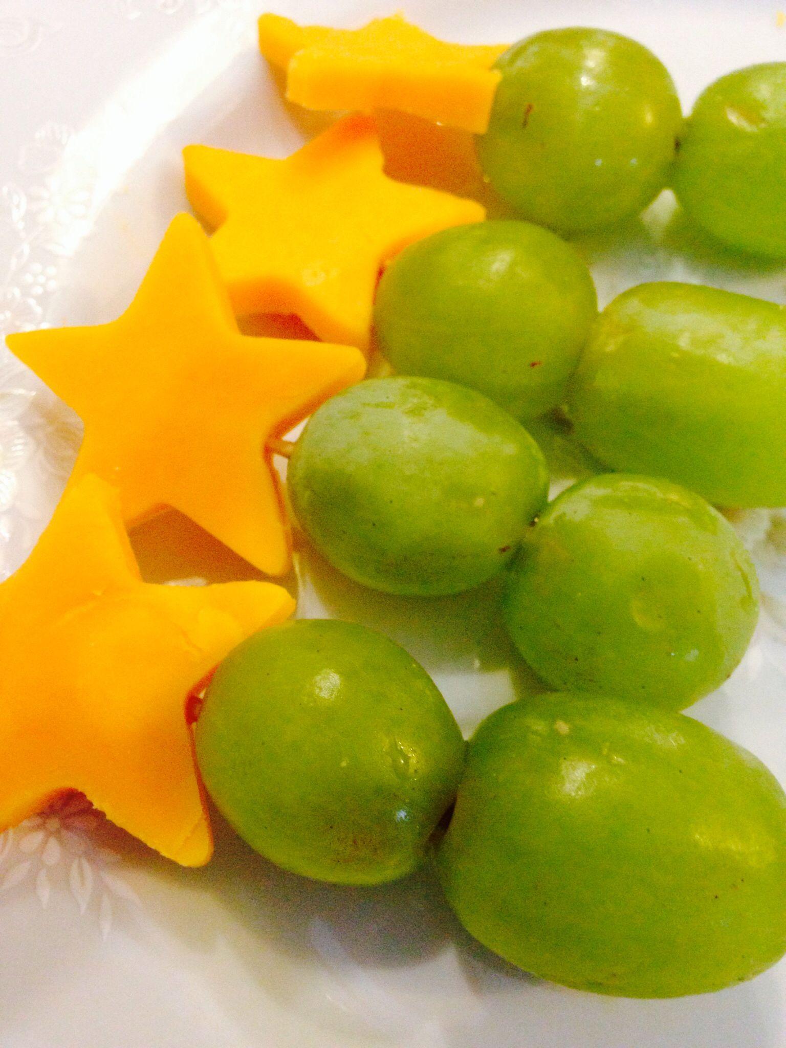 Cheese Grapes Preschool Snack