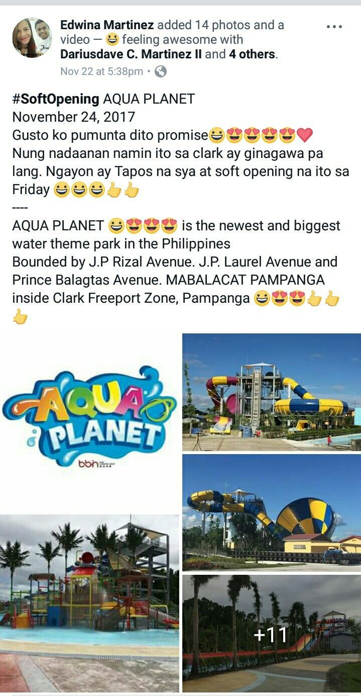 Aqua Planet Clark Pampanga Travel List Pampanga Planets