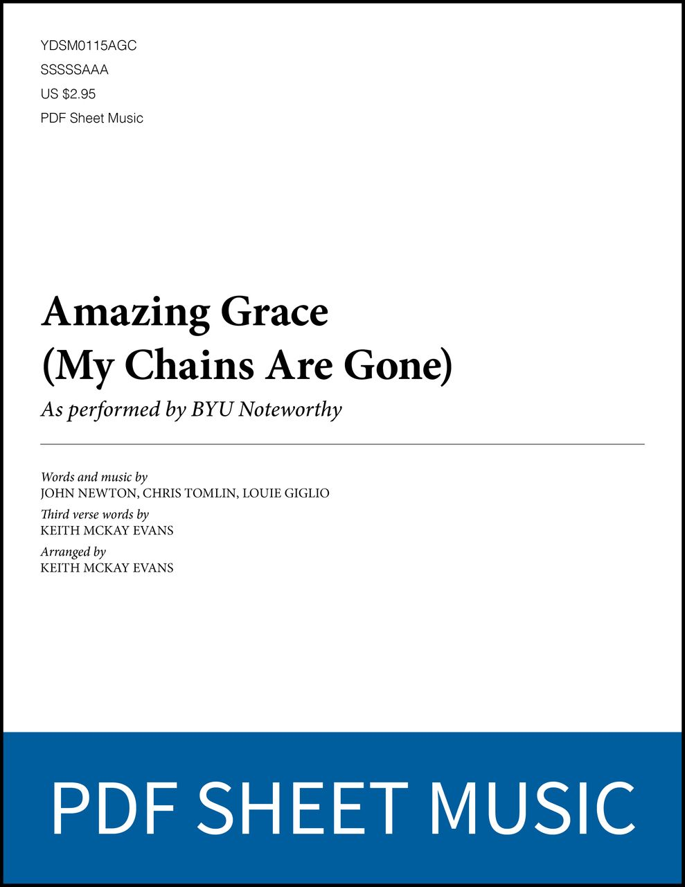 Libros De Cine Pdf Amazing Grace My Chains Are Gone Arr By Keith Mckay Evans