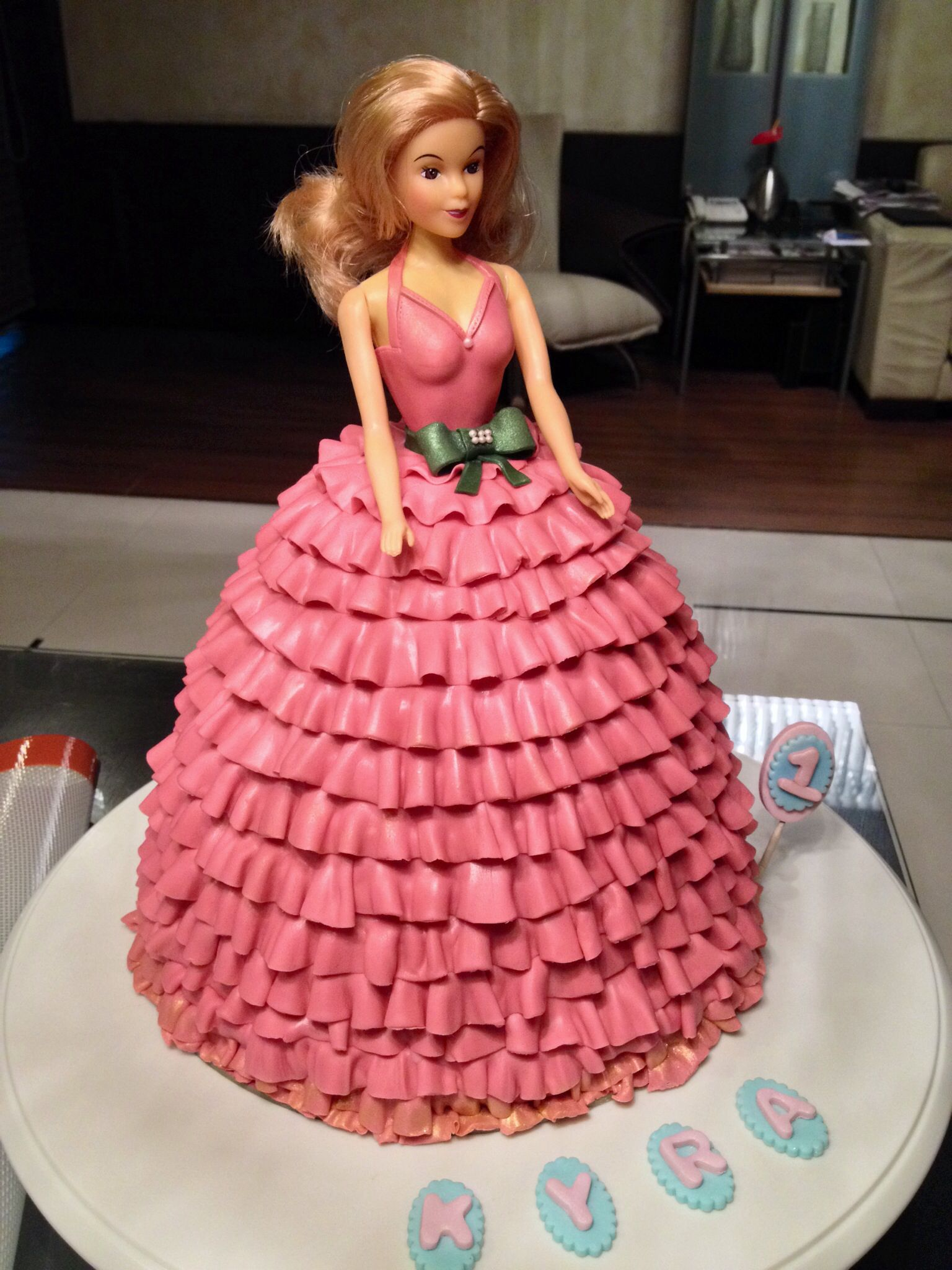 Doll Cake 7 Layered Chocolate Cake With Fondant Ruffles With