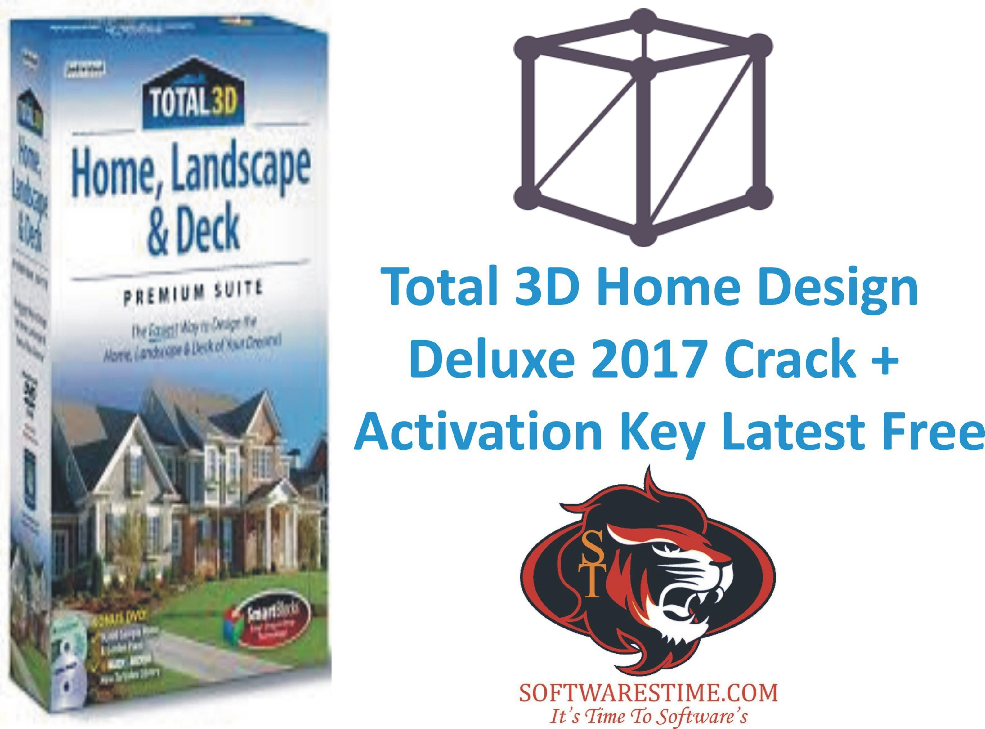 Superb Total 3D Home Design Deluxe 2017 Crack + Activation Key Latest Free,Total  3D Home