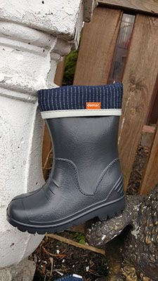 Kalosze Piankowe Dla Dzieci Grafitowe Lekkie Pianka Demar Dino I Boots Wellington Boot Rain Boots