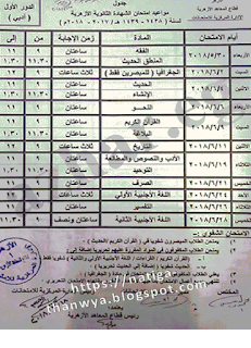 جدول امتحانات الشهادة الثانوية الازهرية 2018 ادبى علمى شعبة اسلامية Person Periodic Table Personalized Items