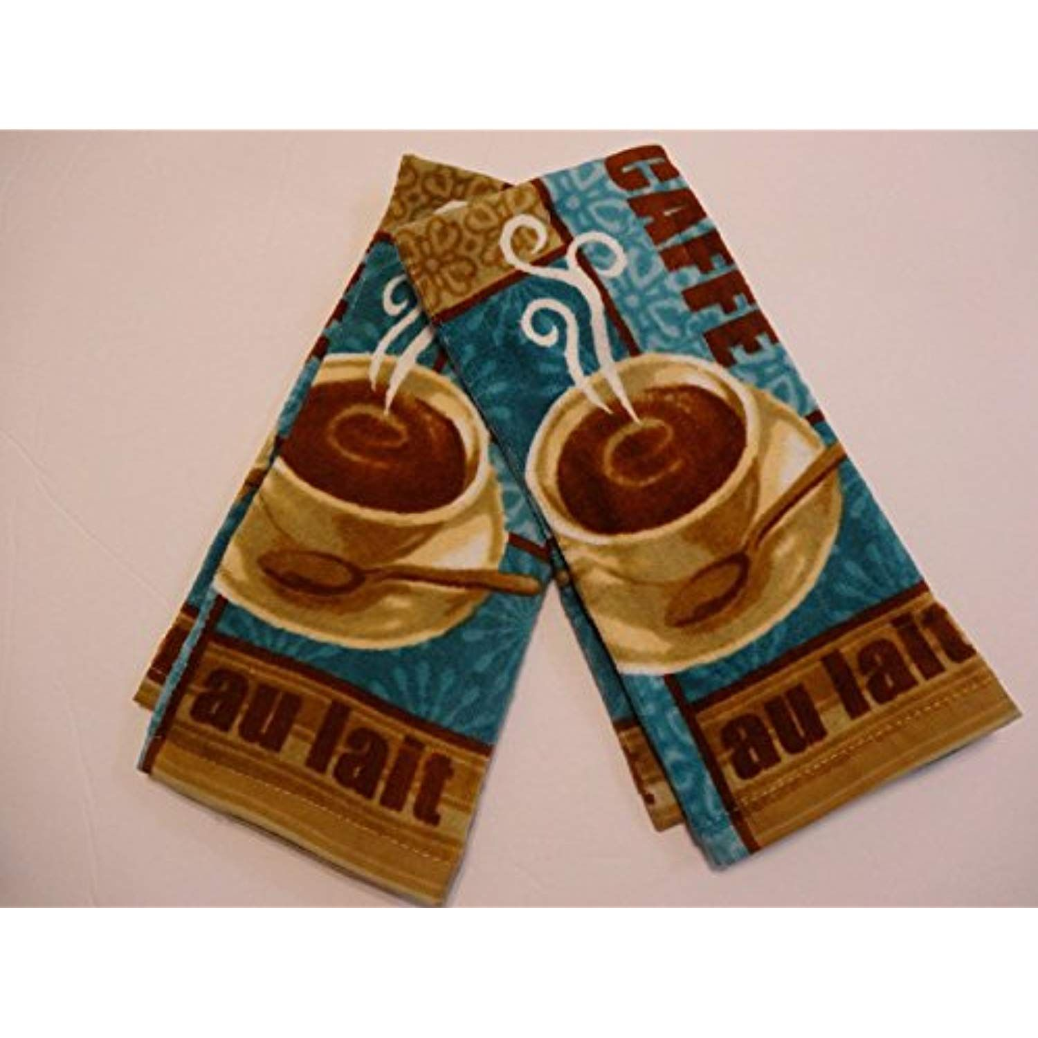 Attrayant Cafe Au Lait Coffee Latte Kitchen Towels 2pk ** To View ...