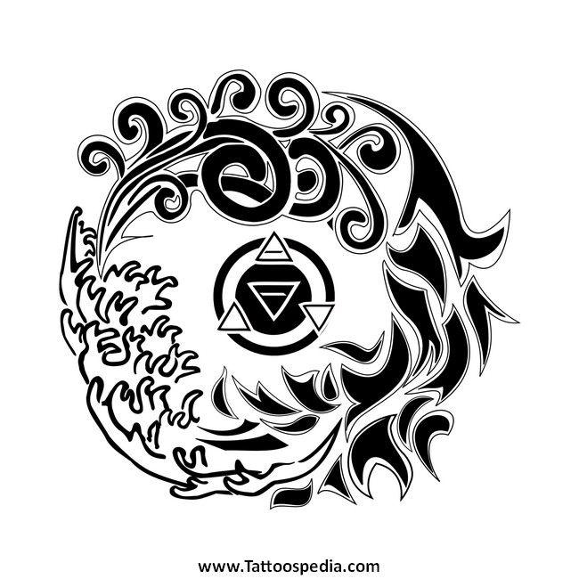 Maori Fire Tattoo: Maori Tattoo 4 Elements 1