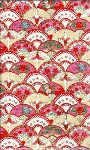 Японский орнамент.   Образец искусства, Ткани с принтом и ...