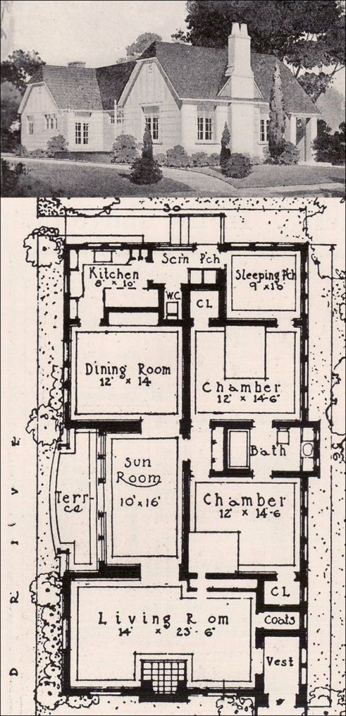 1920s english cottage house plans floor for victorian homes in vintage - English Cottage House Plans