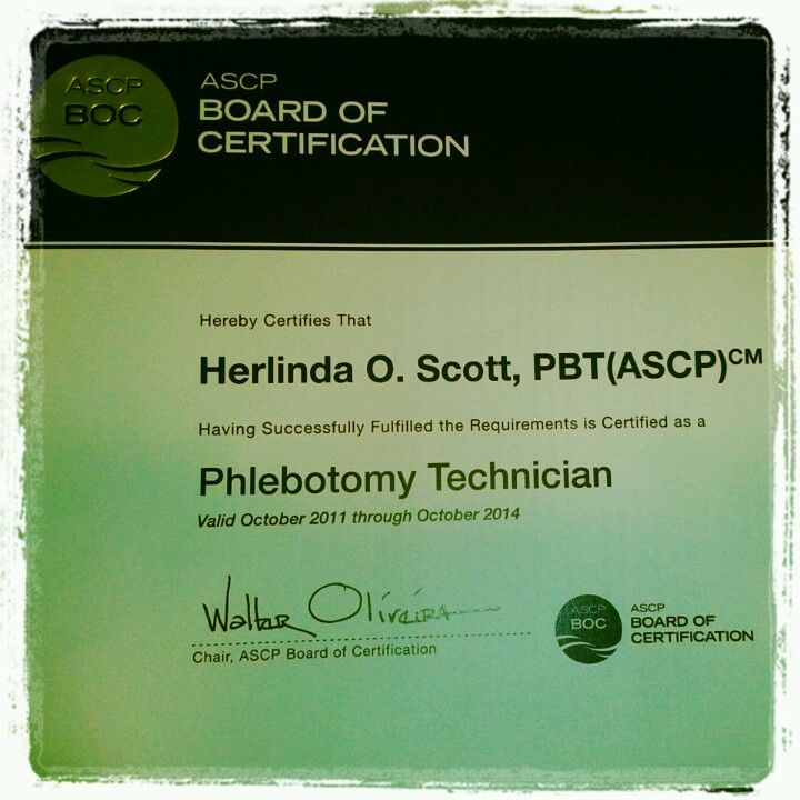 My National Certification Phlebotomy Pinterest Phlebotomy