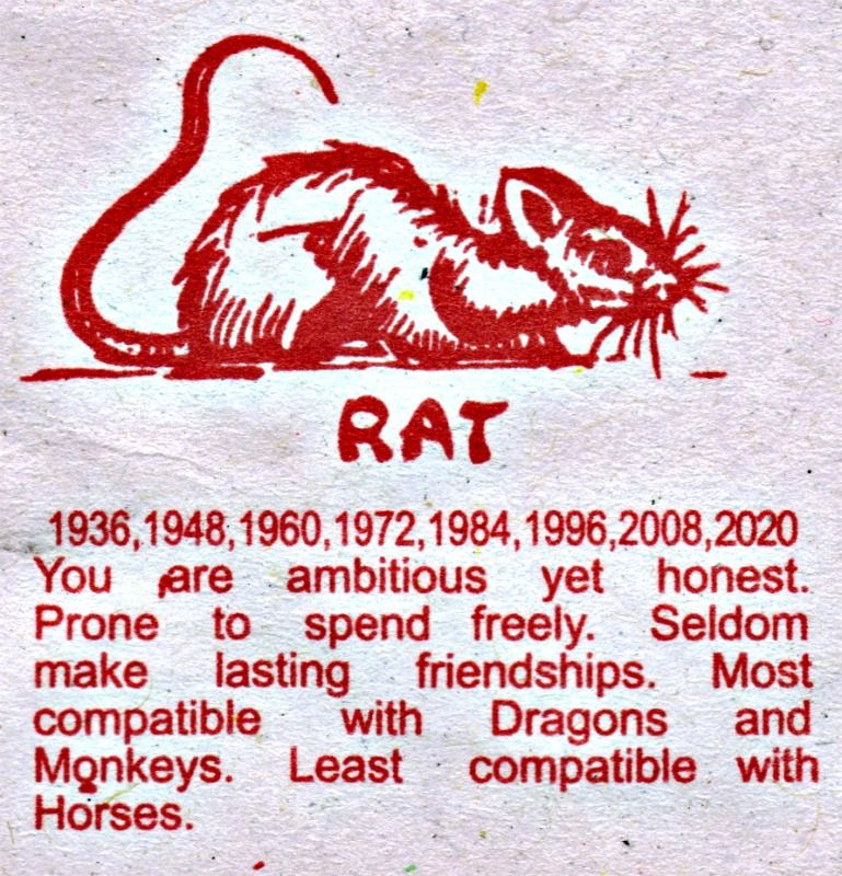 graphic regarding Printable Chinese Zodiac Placemat called Rat towards Chinese Horoscope Placemat Virgo-Rat Chinese