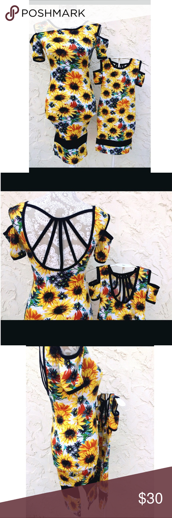 Matching mommy u me sunflower dresses my posh closet pinterest