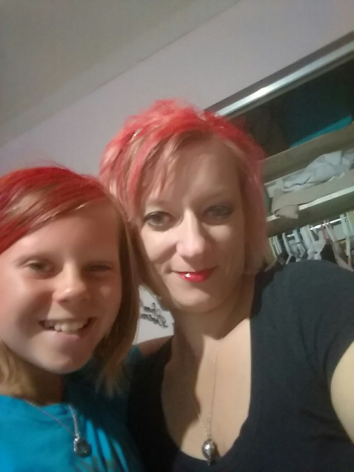 Madi and me when we dyed our hair red 😊 Madi