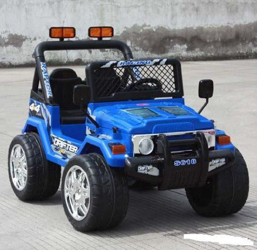 Parents Drive With Remote Control Kids Ride On Jeep Battery