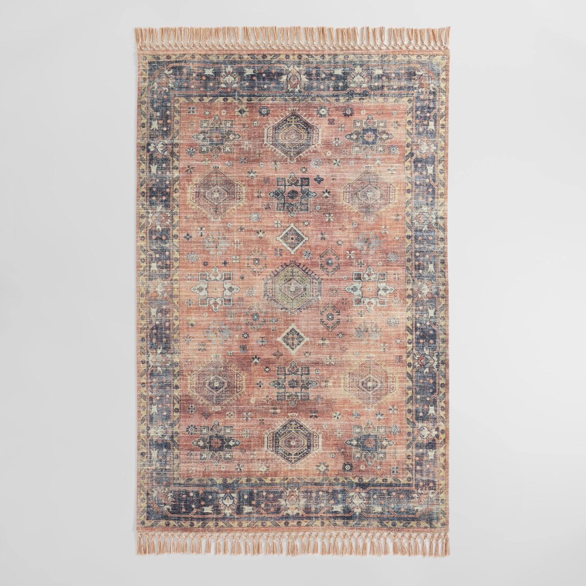 Persian Style Alma Indoor Outdoor Patio Rug With Backing