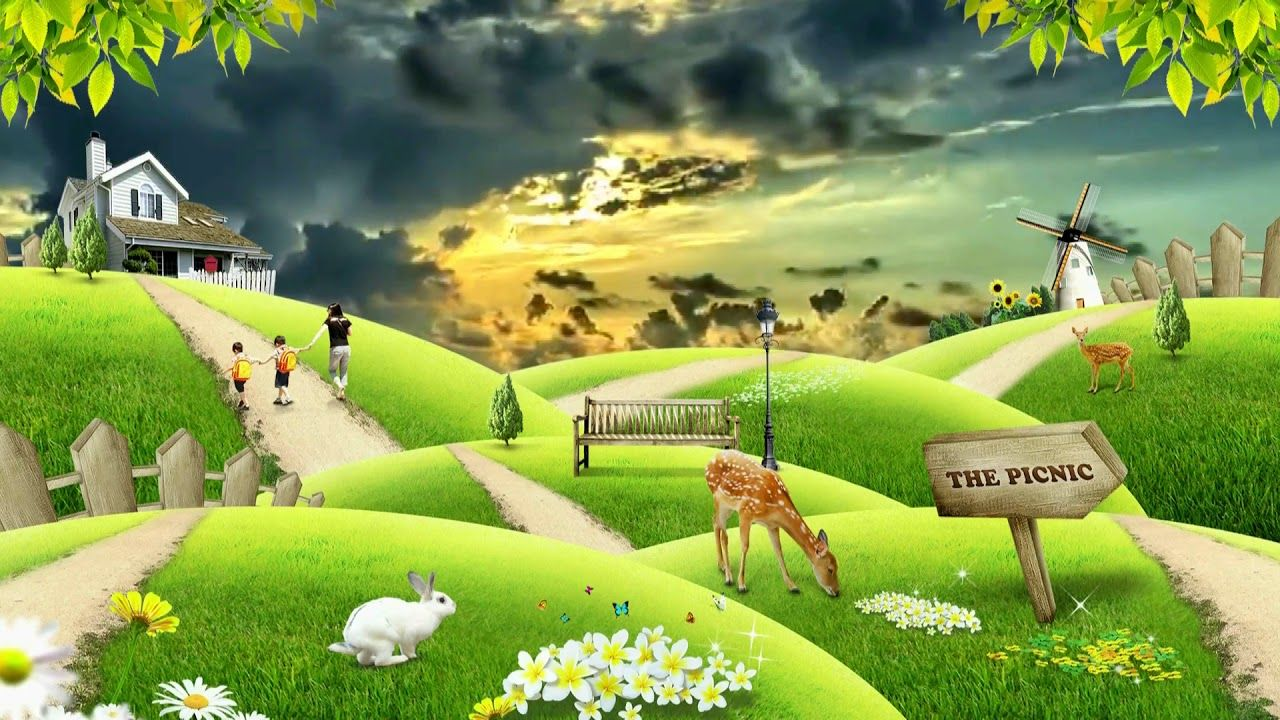 Beautiful 3d Animation With Nature Scenery 3d Background Video Effects Scenery 3d Background Natural Scenery