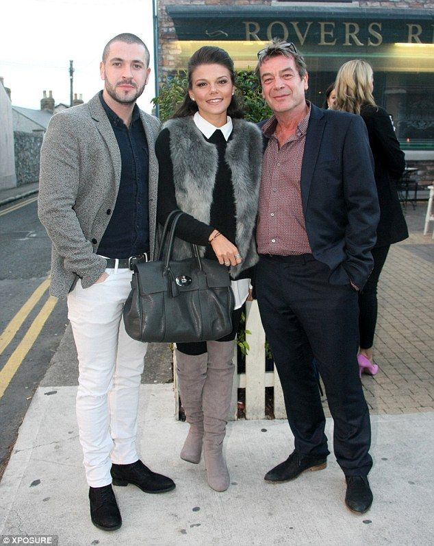 No rest for the wicked: Following the celebrations, Shayne headed to Dublin, Ireland, with fellow newcomers and on-screen family members Faye Brooks - girlfriend of Gareth Gates (Kate Connor) - and Richard Hawley (Johnny Connor)