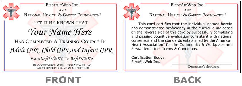 Online CPR Certification and First Aid Certification - First Aid Certificate Template