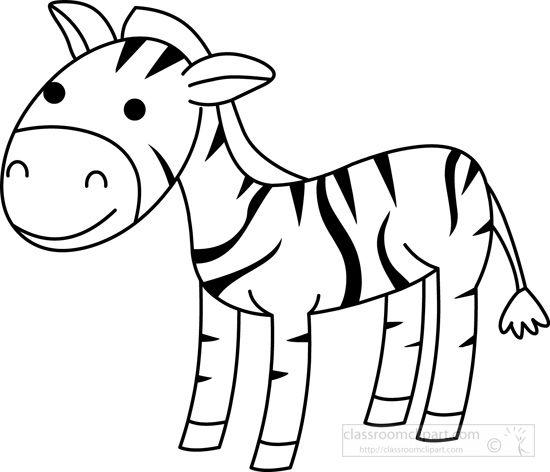 Animals : zebra-black-white-outline : Classroom Clipart ...