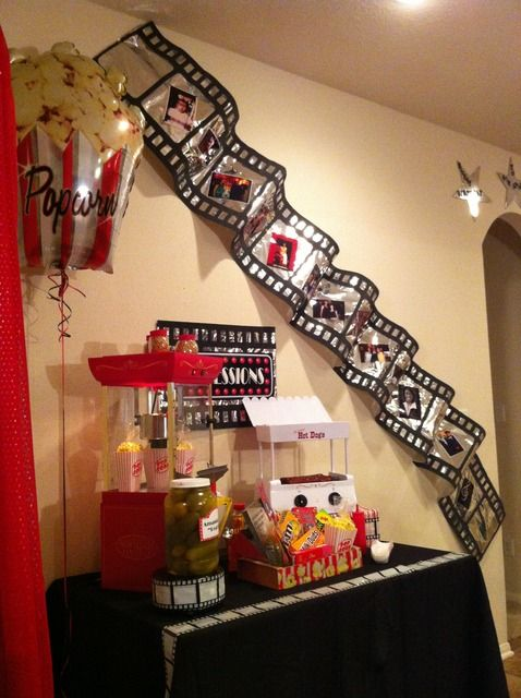 Movie Night Birthday Party Ideas | Pinterest | Teenager Geburtstag ...