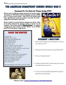 World War 2, World War II, WWII Home Front School History Poster