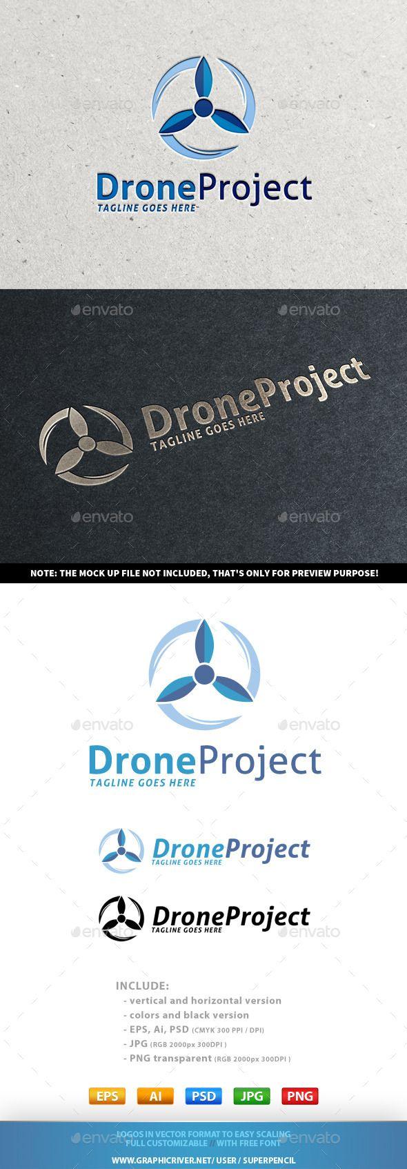 Drone project logo logo design template logos and symbol logo drone project logo buycottarizona