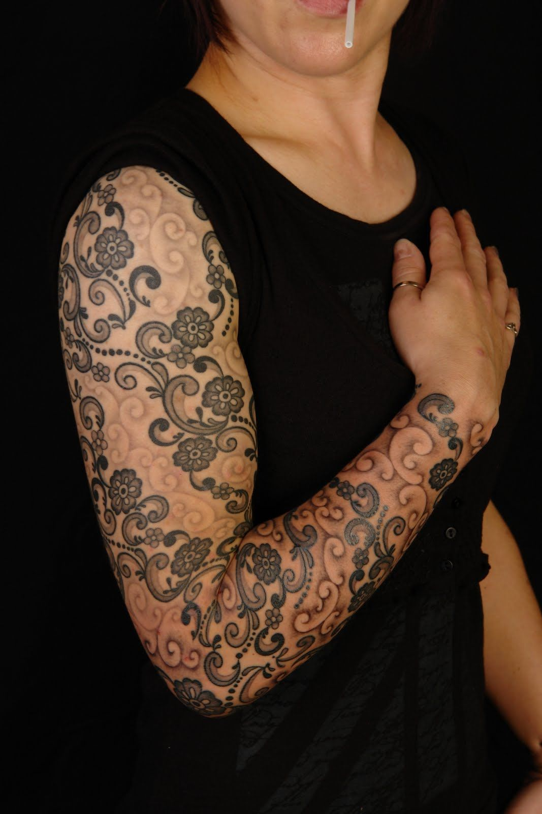 White Lace Tattoo Shoulder Lace Tattoo Lace Sleeve Tattoos Lace Tattoo Tattoo Sleeve Filler