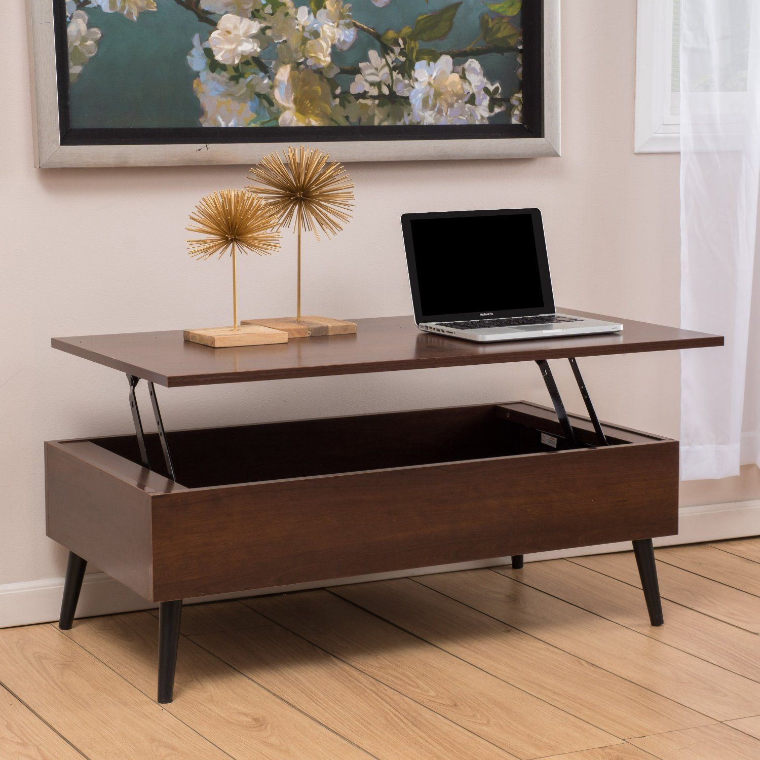 Robot Check Coffee Table With Storage Mid Century Modern Coffee Table Living Room Coffee Table [ 1500 x 1500 Pixel ]