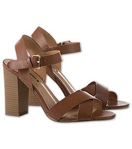 Sandale mit Blockabsatz in der Farbe braun bei C&A