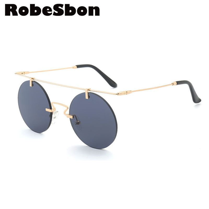 ff67317afd1 Click to Buy    New Round Frame Brand Designer Sunglasses Women Fashion  Vintage Rimless Glasses for Female or Men Gafas sonnenbrille d Oculos   Affiliate