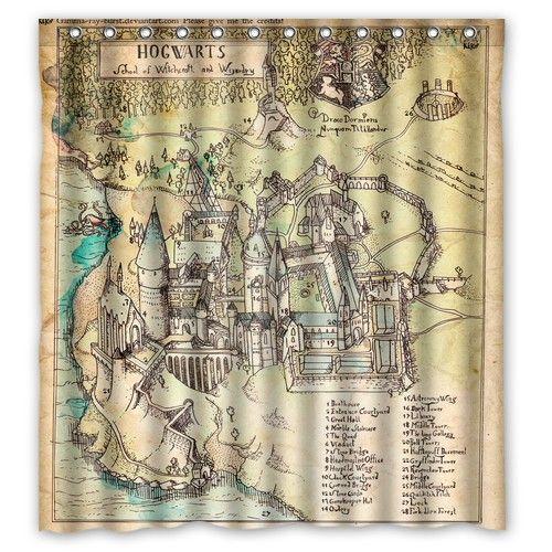 Harry Potter The Marauder S Map Shower Curtain Aliexpress Com